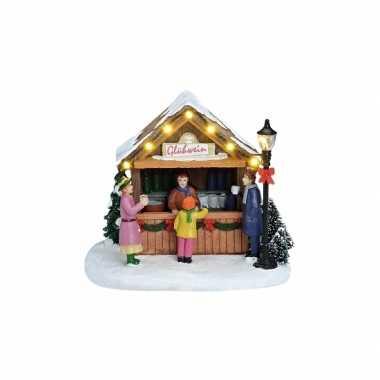Kersthuisje kerst versiering gluhwein kraampje