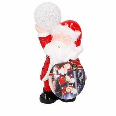 Kerstman met led kerst versiering 17 cm