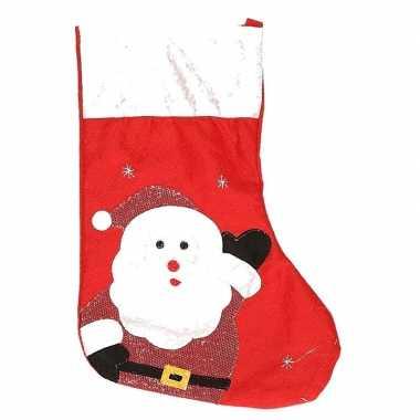 Kerstsok kerstman rood 45 cm versiering/versiering