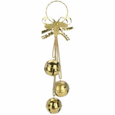 Kerstversiering bellen hanger goud 50 cm