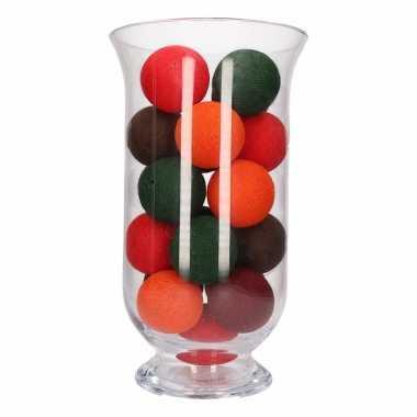 Kerstversiering herfstkleurige verlichting in vaas