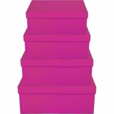 Kerstversiering kadodoosje/cadeaudoosje roze 21 cm