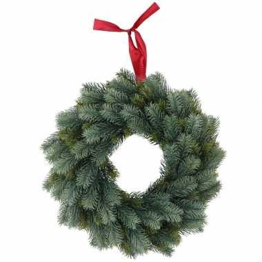 Kerstversiering kerstkrans 40 cm met led verlichting 10144943