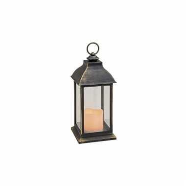 Kerstversiering lantaarn zwart 31 cm