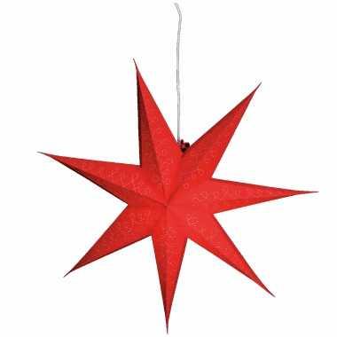 Kerstversiering rode papier versiering kerststerren 60 cm