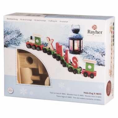 Kerstversiering trein knutselen