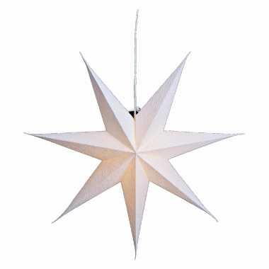 Kerstversiering witte papier versiering kerststerren 60 cm