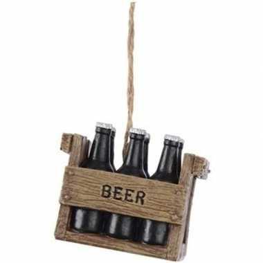 Kratje bier kerstversiering hangversiering 5 cm