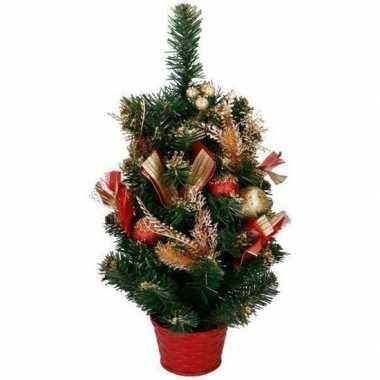 Kunst kerstboom met rood / goud versiering kerst versiering 50 cm