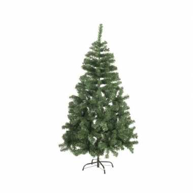 Kunst kerstboom zilverspar kerst versiering 120 cm