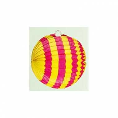 Lampion versiering roze en geel