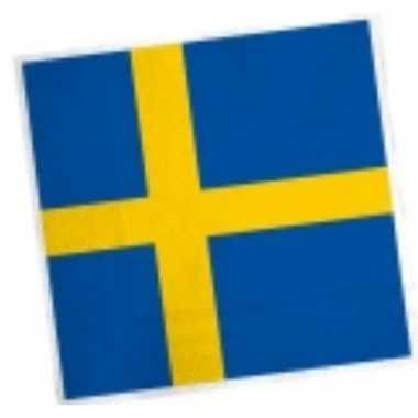 Landen thema versiering zweden servetten 33 cm