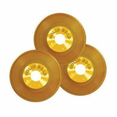 Langspeelplaat versiering goud 23 cm