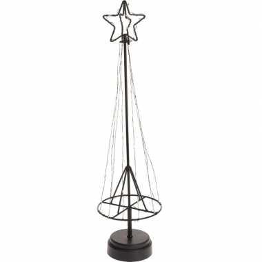 Lichtgevende metalen kerstboom versiering op batterij 50 cm