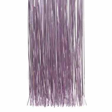 Lila paarse kerstversiering folie slierten 50 cm