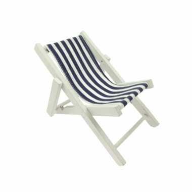 Maritieme versiering strandstoel blauw