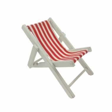 Maritieme versiering strandstoel rood