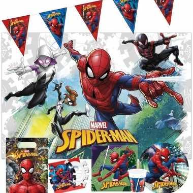 Marvel spiderman kinderfeest tafelversiering pakket 7 12 personen