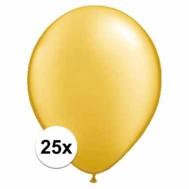 Metallic gouden versiering ballonnen 25 stuks