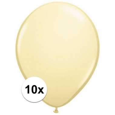 Metallic ivoren versiering ballonnen 10 stuks