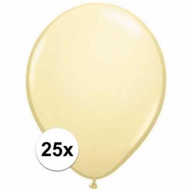 Metallic ivoren versiering ballonnen 25 stuks