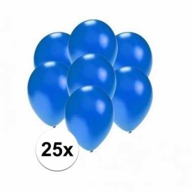 Mini metallic blauwe versiering ballonnen 25 stuks