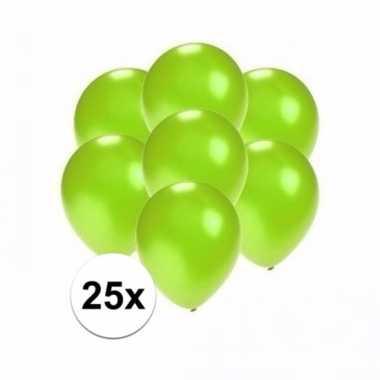 Mini metallic groene versiering ballonnen 25 stuks