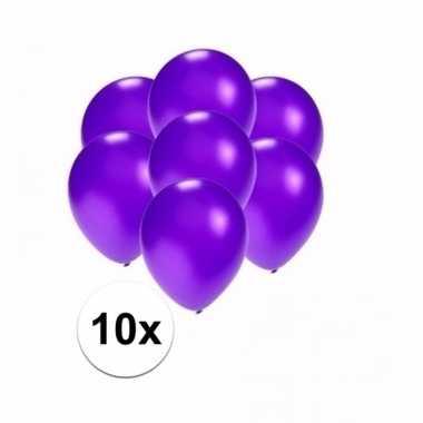 Mini metallic paarse versiering ballonnen 10 stuks
