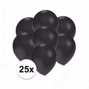 Mini metallic zwarte versiering ballonnen 25 stuks