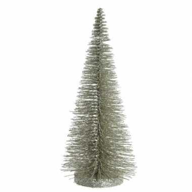 Mini versiering kerstboompje van 30 cm in het lichtgroen