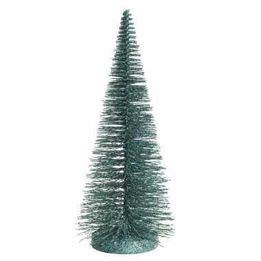 Mini versiering kerstboompje van 30 cm in het rood