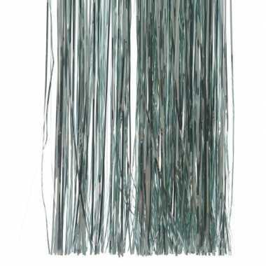 Mint groene kerstversiering folie slierten 50 cm