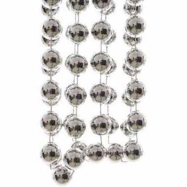 Mystic christmas kerstversiering sterren grove kralen ketting zilver 270 cm