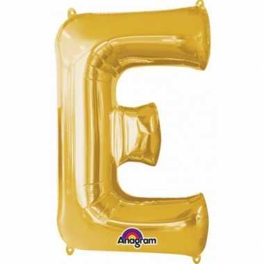 Naam versiering gouden letter ballon e