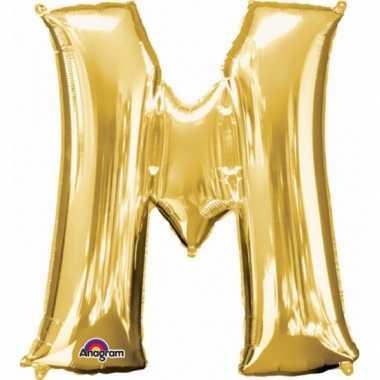 Naam versiering gouden letter ballon m