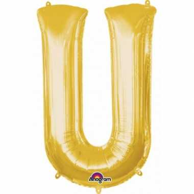 Naam versiering gouden letter ballon u
