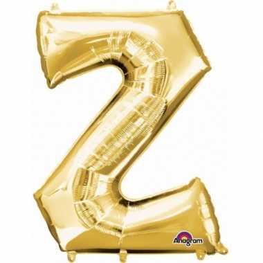 Naam versiering gouden letter ballon z