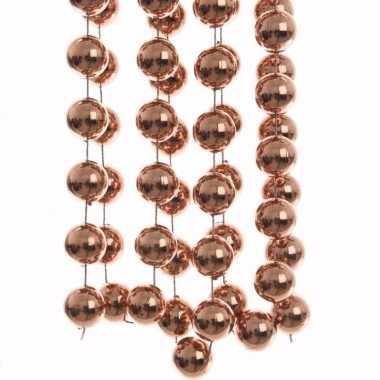 Nature christmas kerstversiering sterren grove kralen ketting brons 270 cm