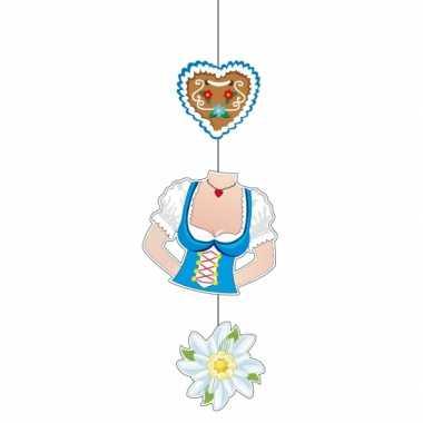 Oktoberfest dame torso versiering 70 cm