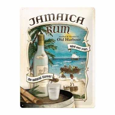 Old harbour poster muurversiering jamaica rum 30 x 40 cm