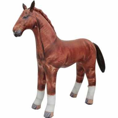 Opblaasbaar paard 75 cm versiering/speelgoed