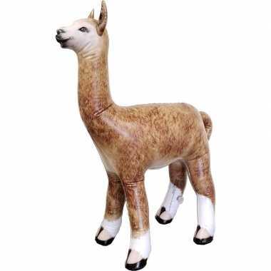 Opblaasbare alpaca lama 75 cm versiering speelgoed