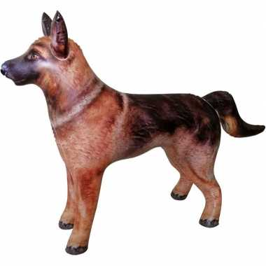 Opblaasbare duitse herdershond 75 cm versiering/speelgoed