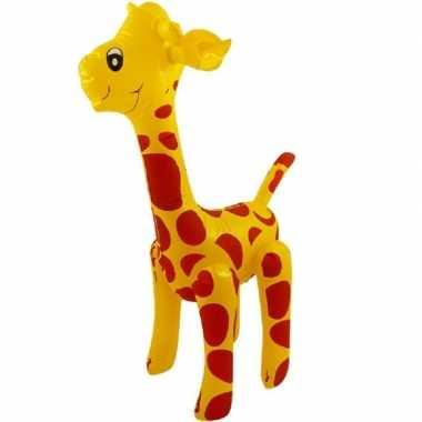 Opblaasbare giraffe 59 cm versiering speelgoed