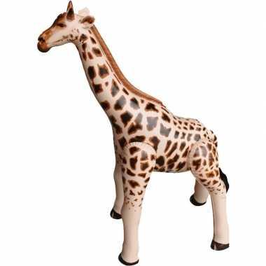 Opblaasbare giraffe 90 cm versiering/speelgoed