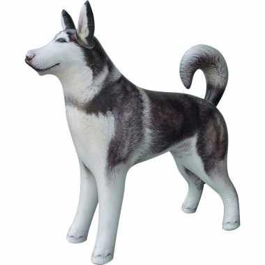 Opblaasbare husky hond 75 cm versiering/speelgoed