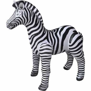 Opblaasbare zebra 140 cm versiering/speelgoed