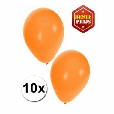 Oranje versiering ballonnen 10 stuks
