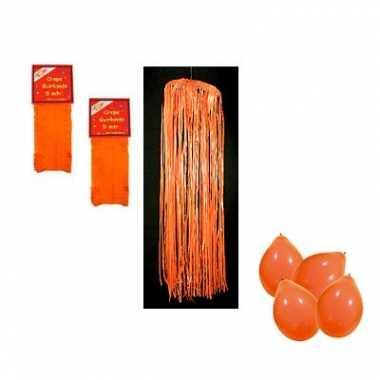 Oranje versiering brandvertragend