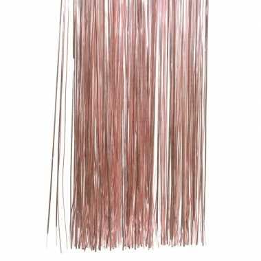 Oud roze kerstversiering folie slierten 50 cm